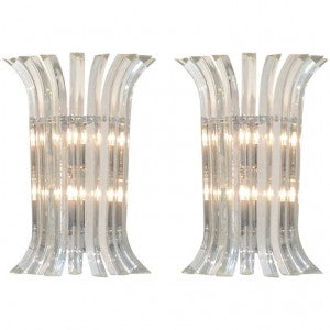 Murano Glass Sconces by Venini
