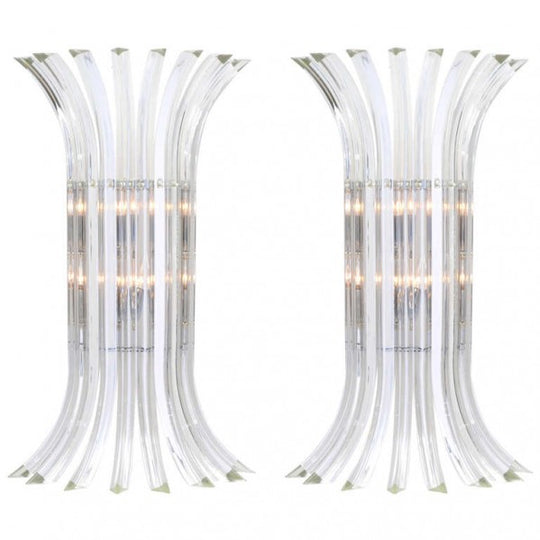 Curve Murano Glass Sconces by Venini
