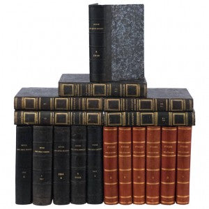 French Antique Leather Bound Books