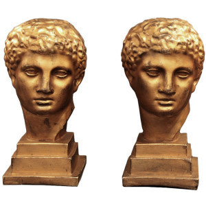 Italian Vintage Gold Leafed Busts