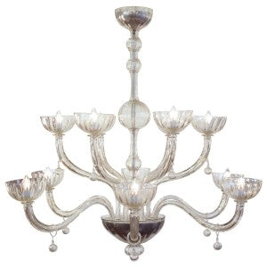 Beautiful Murano Cristallo Antico Chandelier