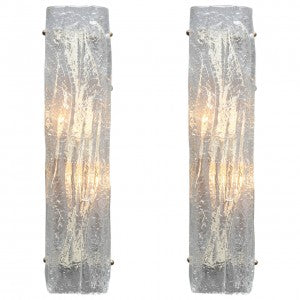 Pair of Murano Glass Sconces by Mazzega