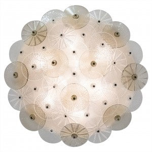 Murano Glass Flush Mount Ceiling Fixture by Carlo Nason