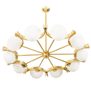 Spectacular Murano Glass Globes Chandelier
