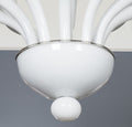 White Opalina Murano Glass Chandelier
