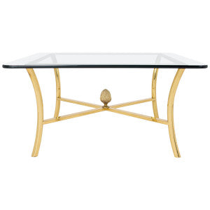 Gilt Brass Coffee Table by Maison Raphael