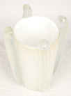 White Murano Glass Vase