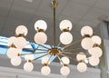 Vintage Stilnovo Style Twelve-Arm Chandelier