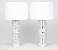 Pair of Murano Mercury Glass Lamps
