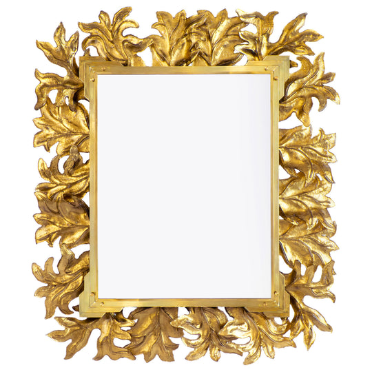 Large Gold Leaf Murano Glass Mirror