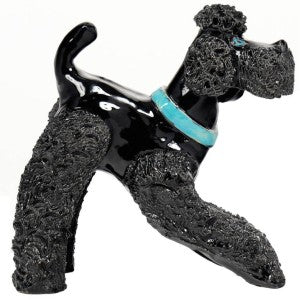 Art Deco Ceramic Poodle Sculpture