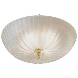 Murano Glass Fluted Dome Ceiling Fixture