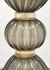 "Pair Gray ""polvera d'oro"" Murano Glass Lamps"
