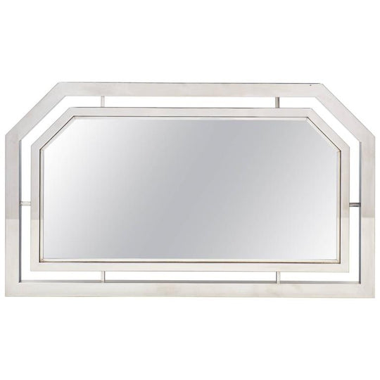 French Vintage Chrome Mirror