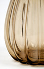 Large Murano Smoked Glass Vase
