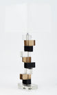 Murano Stacked Glass Blocks Table Lamps