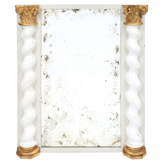 19th Century Italian Baroque Boiserie Mirror