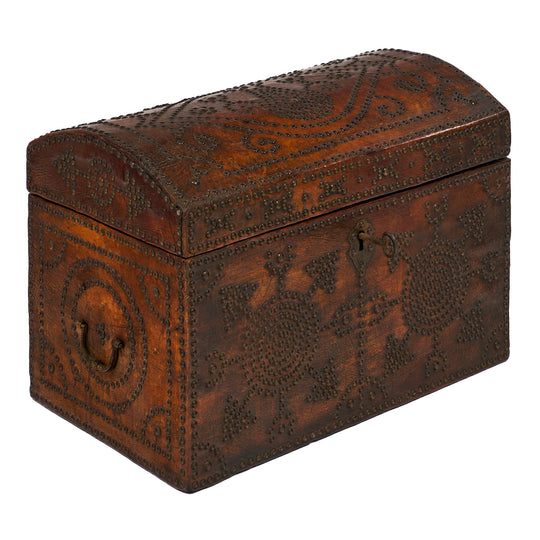 French 19th Century Napoleon III Period Leather Box