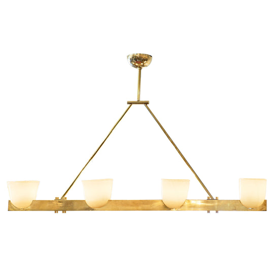 Murano Glass and Brass Chandelier