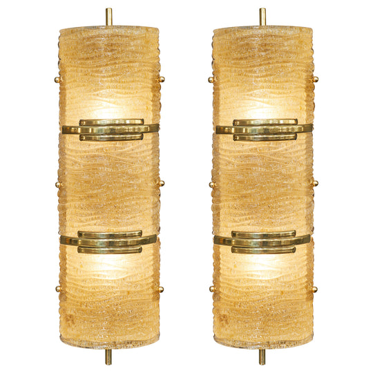 "Italian Murano ""Graniglia"" Glass Sconces"