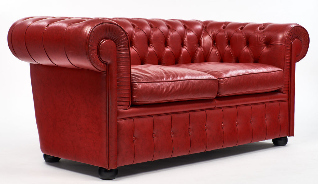 Cool English Red Vintage Chesterfield Sofa Bralicious Painted Fabric Chair Ideas Braliciousco
