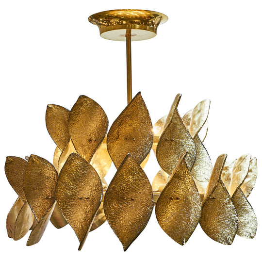 "Modernist Murano Glass ""Virgole"" Chandelier"