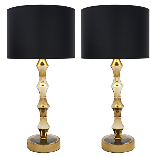 Murano Glass Mirrored Gold Lamps