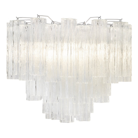 "Murano Glass ""Tronchi"" Chandelier by Venini"