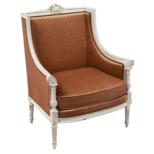Antique French Louis XVI Style Bergere