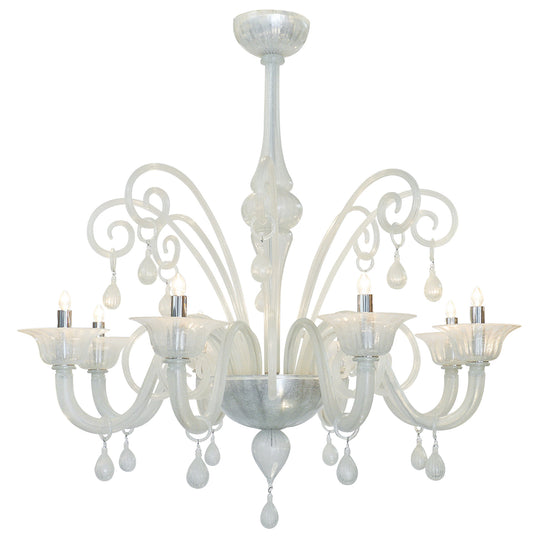 Iridescent Murano Glass Chandelier