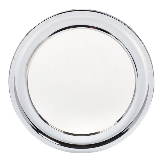 Vintage Circular Chrome Mirror