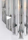 Single Venini Style Murano Gray Glass Prism Sconce