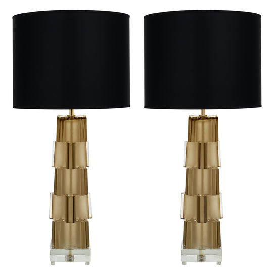Murano Glass Geometric Table Lamps