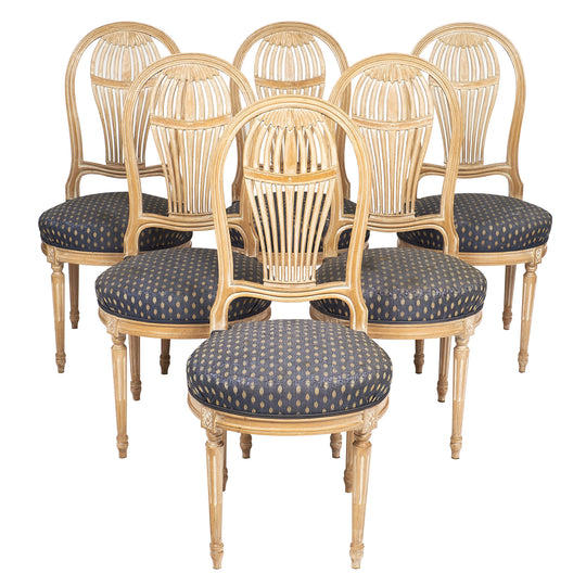 Louis XVI Style Céruse Dining Chairs