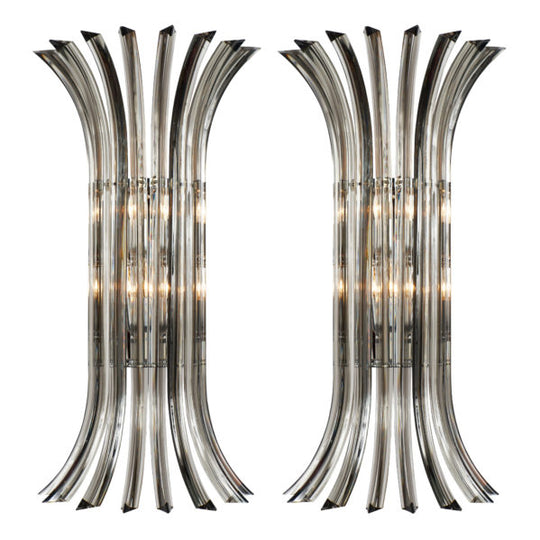 Venini Murano Glass Wall Sconces