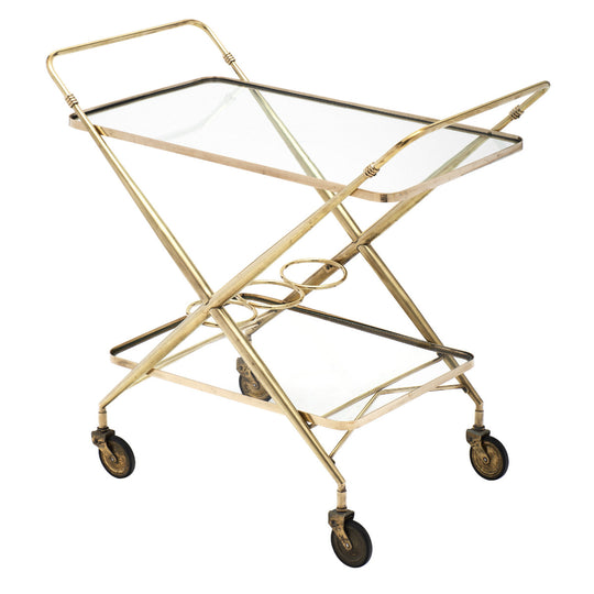 Vintage Brass Bar Cart