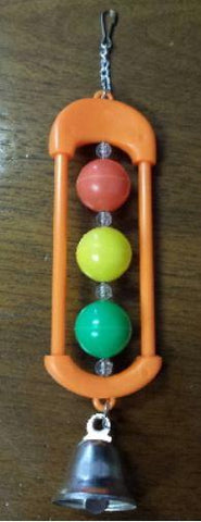 Stoplight Bird Toy with bells