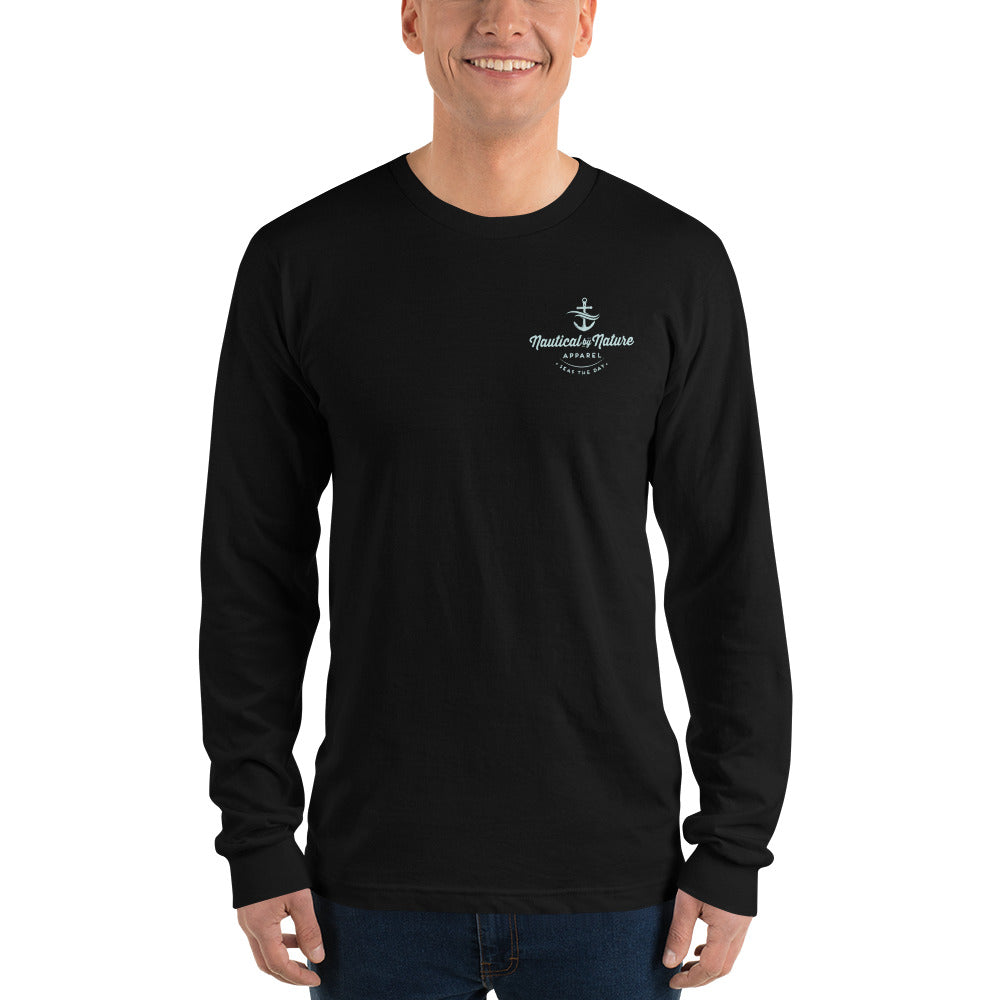 Seas The Day ALL BLUE Long Sleeve Tee (unisex)