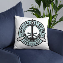 Load image into Gallery viewer, Nautical By Nature 18 x 18 Throw Pillow