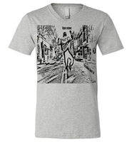 Rejoice evermore. 1 Thessalonians Chapter 5:16 Canvas Unisex V-Neck T-Shirt