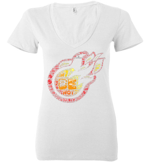 Be not hasty. . . Ecclesiastes 7:9 Bella Ladies Deep V-Neck