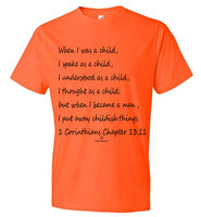1 Corinthians Chapter 13:11 Anvil Fashion T-Shirt
