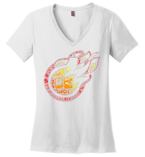 Be not hasty. . . Ecclesiastes 7:9 District Made Ladies Perfect Weight V-Neck