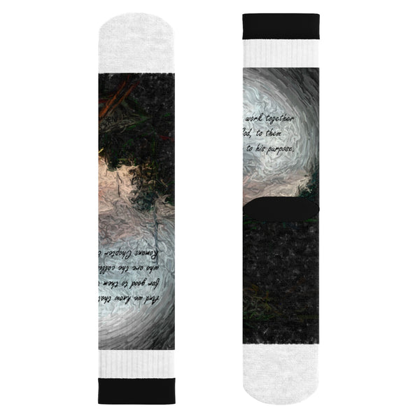 And we know. . . Romans Chapter 8:28 Sublimation Socks
