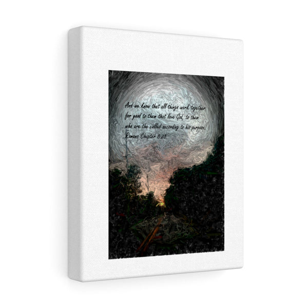 And we know. . . Romans Chapter 8:28 Canvas Gallery Wraps