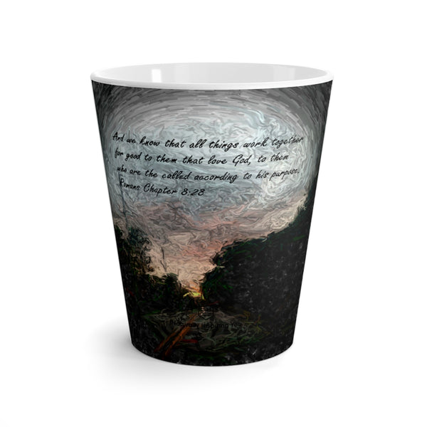 And we know. . . Romans Chapter 8:28 Latte mug