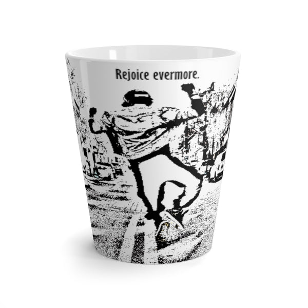 Rejoice evermore. 1 Thessalonians Chapter 5:16 Latte mug
