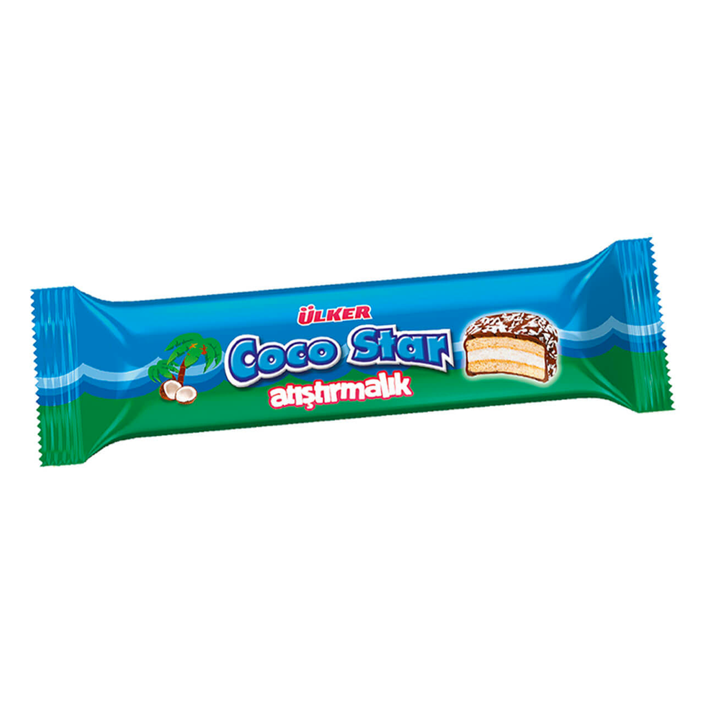 ULKER - COCOSTAR ATISTIRMALIK COCONUT BISCUITS COVERED WITH CHOCOLATE