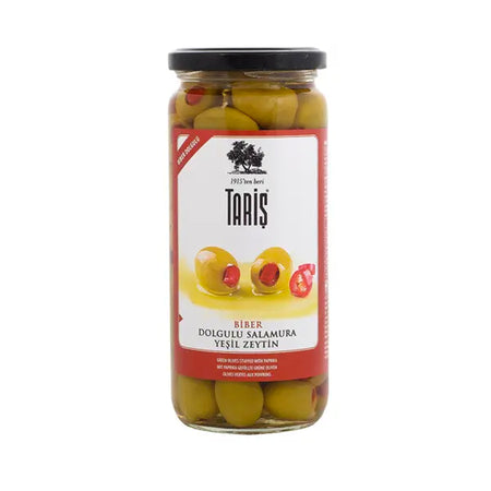 TARIS - Green Olive Stuffed With Pepper 500 cc