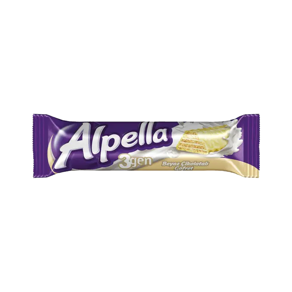 ALPELLA UCGEN - WHITE CHOCOLATE COATED WAFER 28 g